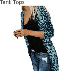 Other - Leopard Long Sleeve  Duster